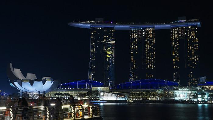 Incontri notturni a Singapore