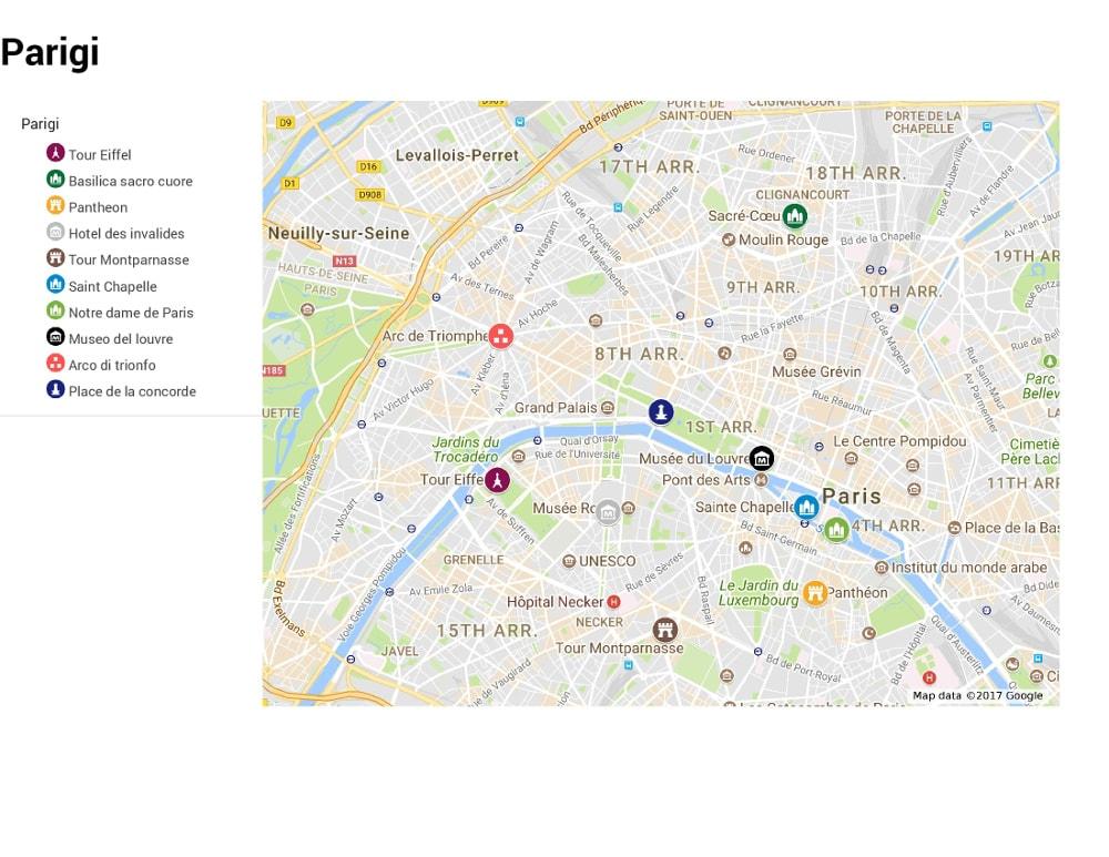 Cartina Parigi Con Monumenti E Metro.Parigi La Ville Lumiere