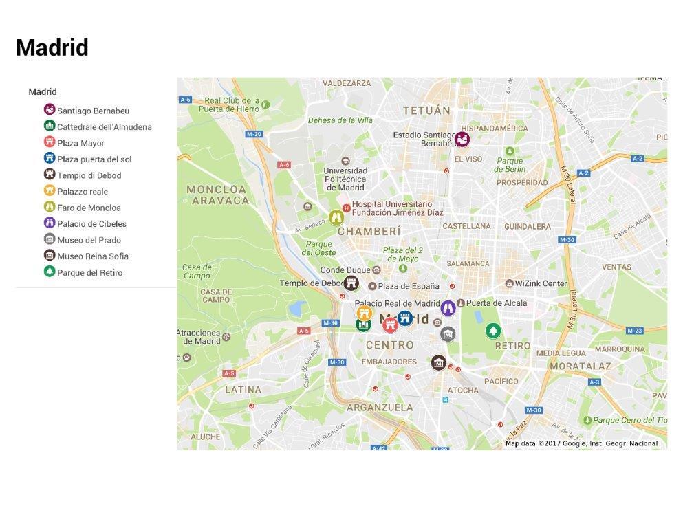 Piazza Di Spagna Cartina.Madrid
